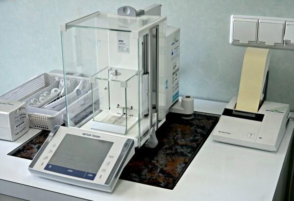 Pokój materiałów odniesienia - mikrowaga